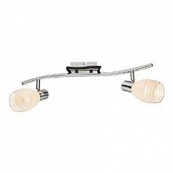 Спот GloboС 2 лампами<br>Артикул - GB_541010-2,Бренд - Globo (Австрия),Коллекция - 541010,Гарантия, месяцы - 24,Тип лампы - компактная люминесцентная [КЛЛ] ИЛИнакаливания ИЛИсветодиодная [LED],Общее кол-во ламп - 2,Напряжение питания лампы, В - 220,Максимальная мощность лампы, Вт - 40,Лампы в комплекте - отсутствуют,Цвет плафонов и подвесок - белый полосатый,Тип поверхности плафонов - матовый,Материал плафонов и подвесок - стекло,Цвет арматуры - хром, черный,Тип поверхности арматуры - глянцевый, матовый,Материал арматуры - металл,Возможность подлючения диммера - можно, если установить лампу накаливания,Тип цоколя лампы - E14,Класс электробезопасности - I,Общая мощность, Вт - 80,Степень пылевлагозащиты, IP - 20,Диапазон рабочих температур - комнатная температура,Дополнительные параметры - способ крепления светильника к потолку и стене - на монтажной пластине, поворотный светильник<br>