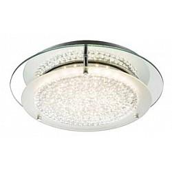 Накладной светильник GloboКруглые<br>Артикул - GB_49299-12,Бренд - Globo (Австрия),Коллекция - Froo I,Гарантия, месяцы - 24,Высота, мм - 80,Диаметр, мм - 280,Тип лампы - светодиодная [LED],Общее кол-во ламп - 1,Максимальная мощность лампы, Вт - 12,Лампы в комплекте - светодиодная [LED],Цвет плафонов и подвесок - неокрашенный,Тип поверхности плафонов - прозрачный,Материал плафонов и подвесок - стекло, хрусталь,Цвет арматуры - хром,Тип поверхности арматуры - глянцевый,Материал арматуры - металл,Возможность подлючения диммера - нельзя,Класс электробезопасности - I,Степень пылевлагозащиты, IP - 20,Диапазон рабочих температур - комнатная температура,Дополнительные параметры - способ крепления к потолку - на монтажной пластине<br>