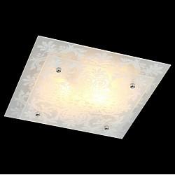 Накладной светильник EurosvetКвадратные<br>Артикул - EV_76388,Бренд - Eurosvet (Китай),Коллекция - Луиза,Гарантия, месяцы - 24,Высота, мм - 100,Тип лампы - компактная люминесцентная [КЛЛ] ИЛИнакаливания ИЛИсветодиодная [LED],Общее кол-во ламп - 2,Напряжение питания лампы, В - 220,Максимальная мощность лампы, Вт - 60,Лампы в комплекте - отсутствуют,Цвет плафонов и подвесок - белый с рисунком,Тип поверхности плафонов - матовый,Материал плафонов и подвесок - стекло,Цвет арматуры - белый с рисунком, хром,Тип поверхности арматуры - глянцевый, матовый,Материал арматуры - металл,Возможность подлючения диммера - можно, если установить лампу накаливания,Тип цоколя лампы - E27,Класс электробезопасности - I,Общая мощность, Вт - 120,Степень пылевлагозащиты, IP - 20,Диапазон рабочих температур - комнатная температура,Дополнительные параметры - способ крепления светильника к потолку - на монтажной пластине<br>
