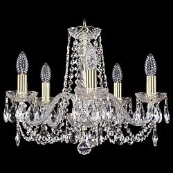 Подвесная люстра Bohemia Ivele Crystal5 или 6 ламп<br>Артикул - BI_1402_5_160,Бренд - Bohemia Ivele Crystal (Чехия),Коллекция - 1402,Гарантия, месяцы - 24,Высота, мм - 410,Диаметр, мм - 490,Размер упаковки, мм - 450x450x200,Тип лампы - компактная люминесцентная [КЛЛ] ИЛИнакаливания ИЛИсветодиодная [LED],Общее кол-во ламп - 5,Напряжение питания лампы, В - 220,Максимальная мощность лампы, Вт - 40,Лампы в комплекте - отсутствуют,Цвет плафонов и подвесок - неокрашенный,Тип поверхности плафонов - прозрачный,Материал плафонов и подвесок - хрусталь,Цвет арматуры - золото, неокрашенный,Тип поверхности арматуры - глянцевый, прозрачный,Материал арматуры - металл, стекло,Возможность подлючения диммера - можно, если установить лампу накаливания,Форма и тип колбы - свеча,Тип цоколя лампы - E14,Класс электробезопасности - I,Общая мощность, Вт - 200,Степень пылевлагозащиты, IP - 20,Диапазон рабочих температур - комнатная температура,Дополнительные параметры - способ крепления светильника к потолку – на крюке<br>