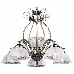 Подвесная люстра Eurosvet5 или 6 ламп<br>Артикул - EV_70126,Бренд - Eurosvet (Китай),Коллекция - 22562,Гарантия, месяцы - 24,Высота, мм - 610-780,Диаметр, мм - 540,Тип лампы - компактная люминесцентная [КЛЛ] ИЛИнакаливания ИЛИсветодиодная [LED],Общее кол-во ламп - 6,Напряжение питания лампы, В - 220,Максимальная мощность лампы, Вт - 60,Лампы в комплекте - отсутствуют,Цвет плафонов и подвесок - белый с неокрашенным рисунком,Тип поверхности плафонов - матовый,Материал плафонов и подвесок - стекло,Цвет арматуры - бронза античная,Тип поверхности арматуры - матовый,Материал арматуры - металл,Возможность подлючения диммера - можно, если установить лампу накаливания,Тип цоколя лампы - E27,Класс электробезопасности - I,Общая мощность, Вт - 360,Степень пылевлагозащиты, IP - 20,Диапазон рабочих температур - комнатная температура,Дополнительные параметры - способ крепления светильника к потолку - на крюке, регулируется по высоте<br>