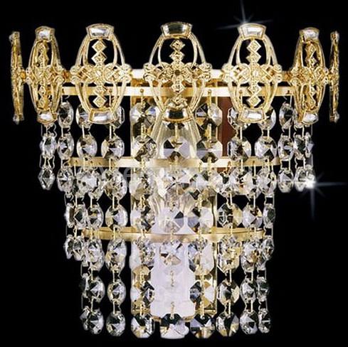 Накладной светильник PreciosaСветодиодные<br>Артикул - PR_25048000115000001,Бренд - Preciosa (Чехия),Коллекция - Brilliant,Гарантия, месяцы - 24,Время изготовления, дней - 1,Ширина, мм - 190,Высота, мм - 190,Выступ, мм - 100,Тип лампы - компактная люминесцентная [КЛЛ] ИЛИнакаливания ИЛИсветодиодная [LED],Общее кол-во ламп - 1,Напряжение питания лампы, В - 220,Максимальная мощность лампы, Вт - 40,Лампы в комплекте - отсутствуют,Цвет плафонов и подвесок - неокрашенный,Тип поверхности плафонов - прозрачный,Материал плафонов и подвесок - хрусталь,Цвет арматуры - золото,Тип поверхности арматуры - глянцевый,Материал арматуры - металл,Возможность подлючения диммера - можно, если установить лампу накаливания,Форма и тип колбы - свеча ИЛИ свеча на ветру,Тип цоколя лампы - E14,Класс электробезопасности - I,Степень пылевлагозащиты, IP - 20,Диапазон рабочих температур - комнатная температура,Дополнительные параметры - светильник предназначен для использования со скрытой проводкой, позолота 24K<br>