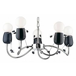 Подвесная люстра Odeon Light5 или 6 ламп<br>Артикул - OD_2582_5,Бренд - Odeon Light (Италия),Коллекция - Rika Boy,Гарантия, месяцы - 24,Высота, мм - 350-600,Диаметр, мм - 450,Тип лампы - компактная люминесцентная [КЛЛ] ИЛИнакаливания ИЛИсветодиодная [LED],Общее кол-во ламп - 5,Напряжение питания лампы, В - 220,Максимальная мощность лампы, Вт - 40,Лампы в комплекте - отсутствуют,Цвет арматуры - синий, хром,Тип поверхности арматуры - глянцевый,Материал арматуры - металл,Возможность подлючения диммера - можно, если установить лампу накаливания,Тип цоколя лампы - E27,Класс электробезопасности - I,Общая мощность, Вт - 200,Степень пылевлагозащиты, IP - 20,Диапазон рабочих температур - комнатная температура<br>