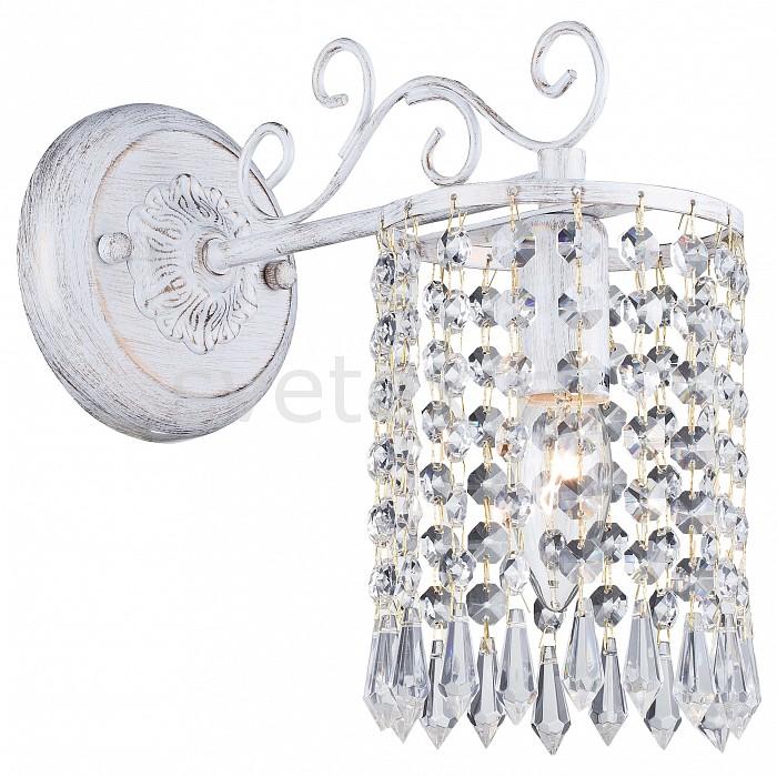 Бра FavouriteС 1 лампой<br>Артикул - FV_1939-1W,Бренд - Favourite (Германия),Коллекция - Salto,Гарантия, месяцы - 24,Ширина, мм - 120,Высота, мм - 240,Выступ, мм - 270,Тип лампы - компактная люминесцентная [КЛЛ] ИЛИнакаливания ИЛИсветодиодная [LED],Общее кол-во ламп - 1,Напряжение питания лампы, В - 220,Максимальная мощность лампы, Вт - 40,Лампы в комплекте - отсутствуют,Цвет плафонов и подвесок - неокрашенный,Тип поверхности плафонов - прозрачный,Материал плафонов и подвесок - хрусталь,Цвет арматуры - белый с золотой патиной,Тип поверхности арматуры - глянцевый, матовый,Материал арматуры - металл,Возможность подлючения диммера - можно, если установить лампу накаливания,Тип цоколя лампы - E14,Класс электробезопасности - I,Степень пылевлагозащиты, IP - 20,Диапазон рабочих температур - комнатная температура,Дополнительные параметры - светильник предназначен для использования со скрытой проводкой<br>