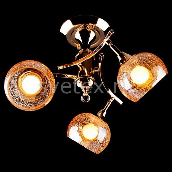 Фото Люстра на штанге Eurosvet 3353 3353/3Н золото/коричневый