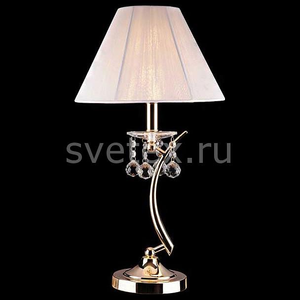 Фото Настольная лампа Eurosvet E14 220В 60Вт 1087 1087/1 золото/белый Strotskis настольная лампа