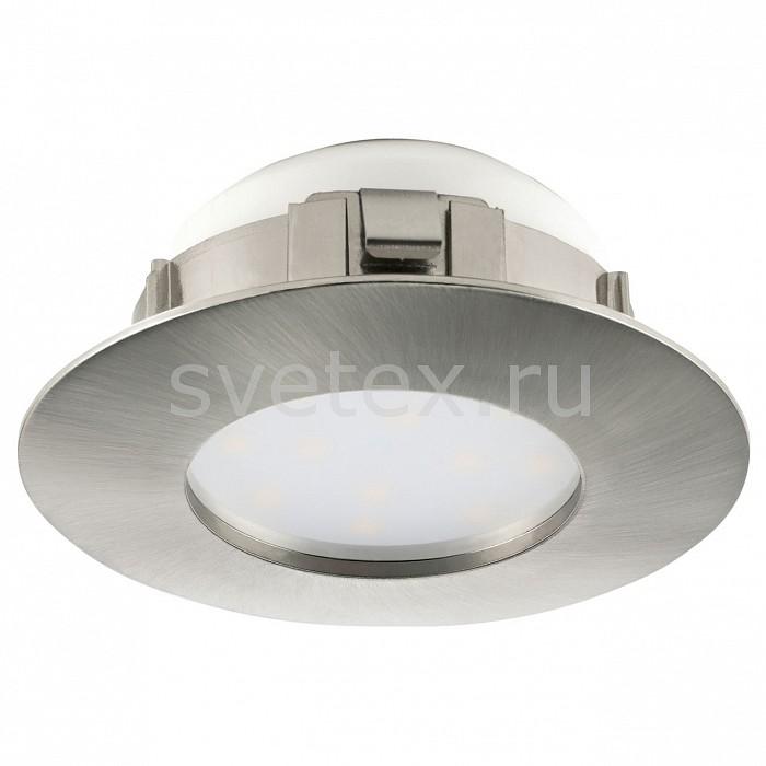Встраиваемый светильник EgloКруглые<br>Артикул - EG_95819,Бренд - Eglo (Австрия),Коллекция - Pineda,Гарантия, месяцы - 24,Глубина, мм - 35,Диаметр, мм - 78,Размер врезного отверстия, мм - 60,Размер упаковки, мм - 215x435x345,Тип лампы - светодиодная [LED],Общее кол-во ламп - 1,Максимальная мощность лампы, Вт - 6,Цвет лампы - белый теплый,Лампы в комплекте - светодиодная [LED],Цвет плафонов и подвесок - белый,Тип поверхности плафонов - матовый,Материал плафонов и подвесок - полимер,Цвет арматуры - никель,Тип поверхности арматуры - матовый,Материал арматуры - полимер,Количество плафонов - 1,Цветовая температура, K - 3000 K,Световой поток, лм - 500,Экономичнее лампы накаливания - в 8, 3 раза,Светоотдача, лм/Вт - 83,Ресурс лампы - 25 тыс. час.,Класс электробезопасности - II,Напряжение питания, В - 220,Степень пылевлагозащиты, IP - 44,Диапазон рабочих температур - комнатная температура<br>