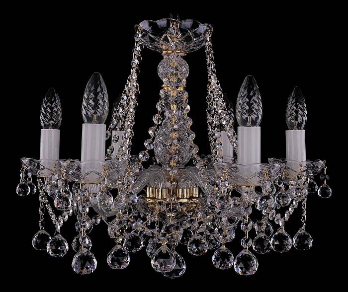 Фото Подвесная люстра Bohemia Ivele Crystal 1413 1413/6/165/G/Balls