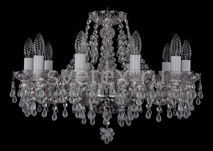 Фото Подвесная люстра Bohemia Ivele Crystal 1410 1410/10/195/Ni/0300