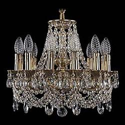 Подвесная люстра Bohemia Ivele CrystalБолее 6 ламп<br>Артикул - BI_1707_12_125_C_GB,Бренд - Bohemia Ivele Crystal (Чехия),Коллекция - 1707,Гарантия, месяцы - 24,Высота, мм - 390,Диаметр, мм - 460,Размер упаковки, мм - 450x450x200,Тип лампы - компактная люминесцентная [КЛЛ] ИЛИнакаливания ИЛИсветодиодная [LED],Общее кол-во ламп - 12,Напряжение питания лампы, В - 220,Максимальная мощность лампы, Вт - 40,Лампы в комплекте - отсутствуют,Цвет плафонов и подвесок - неокрашенный,Тип поверхности плафонов - прозрачный,Материал плафонов и подвесок - хрусталь,Цвет арматуры - золото черненое,Тип поверхности арматуры - глянцевый, рельефный,Материал арматуры - латунь,Возможность подлючения диммера - можно, если установить лампу накаливания,Форма и тип колбы - свеча ИЛИ свеча на ветру,Тип цоколя лампы - E14,Класс электробезопасности - I,Общая мощность, Вт - 480,Степень пылевлагозащиты, IP - 20,Диапазон рабочих температур - комнатная температура,Дополнительные параметры - способ крепления светильника к потолку - на крюке, указана высота светильника без подвеса<br>