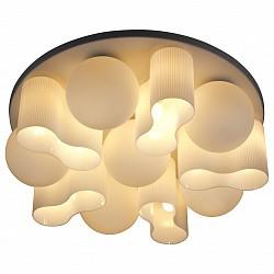 Потолочная люстра ST-LuceБолее 6 ламп<br>Артикул - SL539.502.16,Бренд - ST-Luce (Китай),Коллекция - Schiuma,Гарантия, месяцы - 24,Высота, мм - 230,Диаметр, мм - 760,Размер упаковки, мм - 770x770x380,Тип лампы - компактная люминесцентная [КЛЛ] ИЛИнакаливания ИЛИсветодиодная [LED],Общее кол-во ламп - 16,Напряжение питания лампы, В - 220,Максимальная мощность лампы, Вт - 40,Лампы в комплекте - отсутствуют,Цвет плафонов и подвесок - белый полосатый,Тип поверхности плафонов - матовый,Материал плафонов и подвесок - стекло,Цвет арматуры - никель,Тип поверхности арматуры - сатин,Материал арматуры - металл,Возможность подлючения диммера - можно, если установить лампу накаливания,Тип цоколя лампы - E27,Класс электробезопасности - I,Общая мощность, Вт - 640,Степень пылевлагозащиты, IP - 20,Диапазон рабочих температур - комнатная температура,Дополнительные параметры - способ крепления светильника к потолку – на монтажной пластине<br>