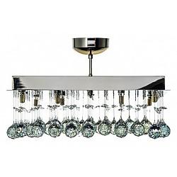 Накладной светильник Arti LampadariКвадратные<br>Артикул - AL_Flusso_H_1.4.50.616_N,Бренд - Arti Lampadari (Италия),Коллекция - Flusso,Гарантия, месяцы - 24,Высота, мм - 660,Тип лампы - галогеновая ИЛИсветодиодная [LED],Общее кол-во ламп - 8,Напряжение питания лампы, В - 220,Максимальная мощность лампы, Вт - 40,Лампы в комплекте - отсутствуют,Цвет плафонов и подвесок - неокрашенные,Тип поверхности плафонов - прозрачный,Материал плафонов и подвесок - хрусталь,Цвет арматуры - никель,Тип поверхности арматуры - матовый,Материал арматуры - металл,Возможность подлючения диммера - можно, если установить лампу накаливания,Форма и тип колбы - пальчиковая,Тип цоколя лампы - G9,Класс электробезопасности - I,Общая мощность, Вт - 320,Степень пылевлагозащиты, IP - 20,Диапазон рабочих температур - комнатная температура,Дополнительные параметры - способ крепления светильника к потолку – на монтажной пластине<br>
