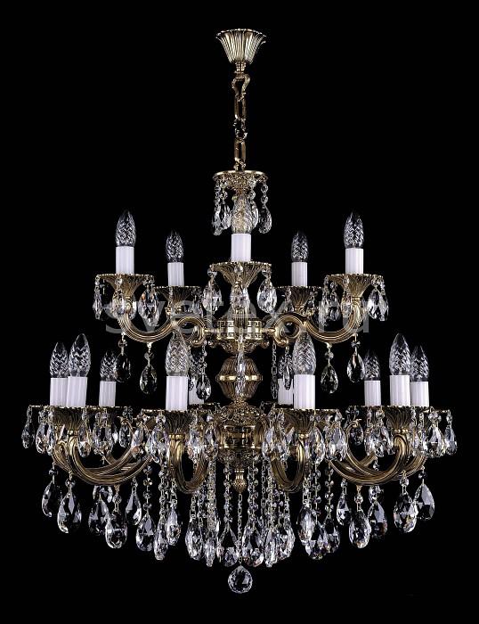Фото Подвесная люстра Bohemia Ivele Crystal 1702 1702/10_5/B/GB