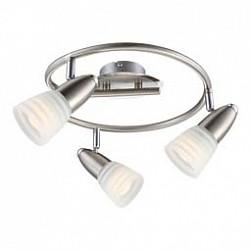 Спот GloboС 3 лампами<br>Артикул - GB_54536-3,Бренд - Globo (Австрия),Коллекция - Caleb,Гарантия, месяцы - 24,Диаметр, мм - 290,Тип лампы - светодиодная [LED],Общее кол-во ламп - 3,Напряжение питания лампы, В - 230,Максимальная мощность лампы, Вт - 4,Лампы в комплекте - светодиодные [LED] E14,Цвет плафонов и подвесок - белый полосатый,Тип поверхности плафонов - матовый,Материал плафонов и подвесок - стекло,Цвет арматуры - никель, хром,Тип поверхности арматуры - глянцевый,Материал арматуры - металл,Возможность подлючения диммера - нельзя,Форма и тип колбы - груша круглая матовая,Тип цоколя лампы - E14,Класс электробезопасности - I,Общая мощность, Вт - 12,Степень пылевлагозащиты, IP - 20,Диапазон рабочих температур - комнатная температура,Дополнительные параметры - поворотный светильник<br>