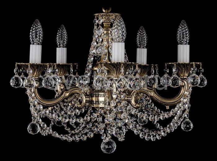 Фото Подвесная люстра Bohemia Ivele Crystal 1701 1701/5/C/GB/Balls