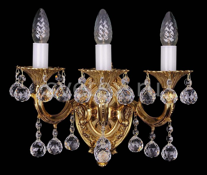Фото Бра Bohemia Ivele Crystal 1700 1700/3/A/G/Balls
