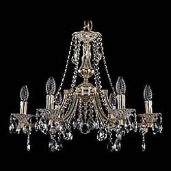 Подвесная люстра Bohemia Ivele Crystal5 или 6 ламп<br>Артикул - BI_1771_6_190_A_GW,Бренд - Bohemia Ivele Crystal (Чехия),Коллекция - 1771,Гарантия, месяцы - 24,Высота, мм - 550,Диаметр, мм - 600,Размер упаковки, мм - 450x450x200,Тип лампы - компактная люминесцентная [КЛЛ] ИЛИнакаливания ИЛИсветодиодная [LED],Общее кол-во ламп - 6,Напряжение питания лампы, В - 220,Максимальная мощность лампы, Вт - 40,Лампы в комплекте - отсутствуют,Цвет плафонов и подвесок - неокрашенный,Тип поверхности плафонов - прозрачный,Материал плафонов и подвесок - хрусталь,Цвет арматуры - золото беленое,Тип поверхности арматуры - глянцевый, рельефный,Материал арматуры - латунь,Возможность подлючения диммера - можно, если установить лампу накаливания,Форма и тип колбы - свеча ИЛИ свеча на ветру,Тип цоколя лампы - E14,Класс электробезопасности - I,Общая мощность, Вт - 240,Степень пылевлагозащиты, IP - 20,Диапазон рабочих температур - комнатная температура,Дополнительные параметры - способ крепления светильника к потолку - на крюке, указана высота светильника без подвеса<br>