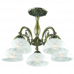 Люстра на штанге Odeon Light5 или 6 ламп<br>Артикул - OD_2945_5C,Бренд - Odeon Light (Италия),Коллекция - Emeril,Гарантия, месяцы - 24,Высота, мм - 360,Диаметр, мм - 540,Тип лампы - компактная люминесцентная [КЛЛ] ИЛИнакаливания ИЛИсветодиодная [LED],Общее кол-во ламп - 5,Напряжение питания лампы, В - 220,Максимальная мощность лампы, Вт - 60,Лампы в комплекте - отсутствуют,Цвет плафонов и подвесок - белый с рисунком,Тип поверхности плафонов - матовый, прозрачный,Материал плафонов и подвесок - стекло,Цвет арматуры - бронза,Тип поверхности арматуры - сатин,Материал арматуры - металл,Возможность подлючения диммера - можно, если установить лампу накаливания,Тип цоколя лампы - E27,Класс электробезопасности - I,Общая мощность, Вт - 300,Степень пылевлагозащиты, IP - 20,Диапазон рабочих температур - комнатная температура,Дополнительные параметры - способ крепления светильника на потолке - на монтажной пластине<br>