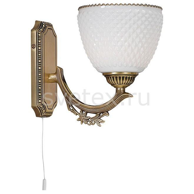 Бра Reccagni AngeloНастенные светильники<br>Артикул - RA_A_8651_1,Бренд - Reccagni Angelo (Италия),Коллекция - 8651,Гарантия, месяцы - 24,Ширина, мм - 200,Высота, мм - 200,Выступ, мм - 220,Тип лампы - компактная люминесцентная [КЛЛ] ИЛИнакаливания ИЛИсветодиодная [LED],Общее кол-во ламп - 1,Напряжение питания лампы, В - 220,Максимальная мощность лампы, Вт - 60,Лампы в комплекте - отсутствуют,Цвет плафонов и подвесок - белый,Тип поверхности плафонов - матовый, рельефный,Материал плафонов и подвесок - стекло,Цвет арматуры - бронза состаренная,Тип поверхности арматуры - матовый, рельефный,Материал арматуры - латунь,Количество плафонов - 1,Наличие выключателя, диммера или пульта ДУ - выключатель шнуровой,Возможность подлючения диммера - можно, если установить лампу накаливания,Тип цоколя лампы - E27,Класс электробезопасности - I,Степень пылевлагозащиты, IP - 20,Диапазон рабочих температур - комнатная температура,Дополнительные параметры - способ крепления светильника на стене – на монтажной пластине, светильник предназначен для использования со скрытой проводкой<br>