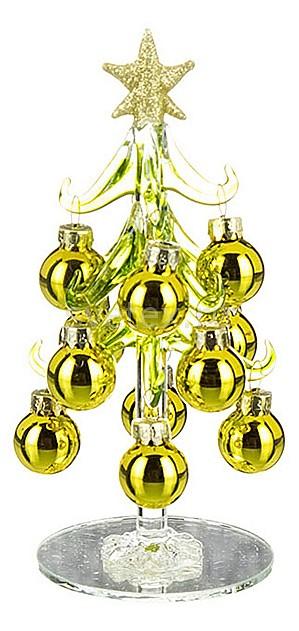 Ель новогодняя с елочными шарами АРТИ-МЕли новогодние<br>Артикул - art_594-002,Бренд - АРТИ-М (Россия),Коллекция - ART 594,Высота, мм - 150,Цвет - желтый,Материал - стекло,Компоненты, входящие в комплект - ель новогодняя;12 елочных шаров<br>