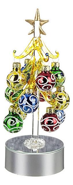 Ель световая с елочными игрушками АРТИ-МСопутствующие товары<br>Артикул - art_594-043,Бренд - АРТИ-М (Россия),Коллекция - ART 594,Высота, мм - 200,Цвет - зеленый, желтый, красный, синий,Материал - стекло,Компоненты, входящие в комплект - ель световая;12 елочных шаров;батарейка,Дополнительные параметры - с подсветкой<br>