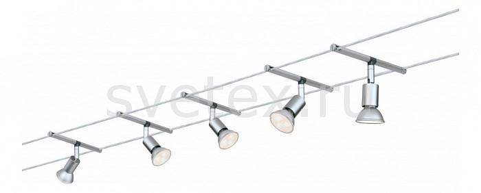 Комплект PaulmannСтрунные светильники<br>Артикул - PA_94124,Бренд - Paulmann (Германия),Коллекция - 9412,Гарантия, месяцы - 24,Длина, мм - 10000,Ширина, мм - 160,Тип лампы - светодиодная [LED],Общее кол-во ламп - 5,Напряжение питания лампы, В - 220,Максимальная мощность лампы, Вт - 4,Цвет лампы - белый,Лампы в комплекте - светодиодные [LED] GU5.3,Цвет арматуры - хром,Тип поверхности арматуры - глянцевый,Материал арматуры - металл,Форма и тип колбы - полусферическая с рефлектором,Тип цоколя лампы - GU5.3,Цветовая температура, K - 4000 K,Класс электробезопасности - II,Общая мощность, Вт - 20,Степень пылевлагозащиты, IP - 20,Диапазон рабочих температур - комнатная температура,Дополнительные параметры - расстояние между струнами 160 мм<br>