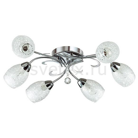 Потолочная люстра LumionЛюстры<br>Артикул - LMN_2834_6,Бренд - Lumion (Италия),Коллекция - Frimas,Гарантия, месяцы - 24,Длина, мм - 530,Ширина, мм - 490,Высота, мм - 260,Размер упаковки, мм - 300x380x230,Тип лампы - компактная люминесцентная [КЛЛ] ИЛИнакаливания ИЛИсветодиодная [LED],Общее кол-во ламп - 6,Напряжение питания лампы, В - 220,Максимальная мощность лампы, Вт - 40,Лампы в комплекте - отсутствуют,Цвет плафонов и подвесок - белый с прозрачным рисунком, неокрашенный,Тип поверхности плафонов - матовый, прозрачный,Материал плафонов и подвесок - стекло, хрусталь,Цвет арматуры - хром,Тип поверхности арматуры - глянцевый,Материал арматуры - металл,Количество плафонов - 6,Возможность подлючения диммера - можно, если установить лампу накаливания,Тип цоколя лампы - E14,Класс электробезопасности - I,Общая мощность, Вт - 240,Степень пылевлагозащиты, IP - 20,Диапазон рабочих температур - комнатная температура,Дополнительные параметры - способ крепления светильника к потолку - на монтажной пластине<br>