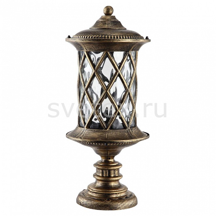 Наземный низкий светильник FeronСветильники<br>Артикул - FE_11507,Бренд - Feron (Китай),Коллекция - Тироль,Гарантия, месяцы - 24,Высота, мм - 415,Диаметр, мм - 180,Тип лампы - компактная люминесцентная [КЛЛ] ИЛИнакаливания ИЛИсветодиодная [LED],Общее кол-во ламп - 1,Напряжение питания лампы, В - 220,Максимальная мощность лампы, Вт - 60,Лампы в комплекте - отсутствуют,Цвет плафонов и подвесок - неокрашенный,Тип поверхности плафонов - прозрачный,Материал плафонов и подвесок - стекло,Цвет арматуры - золото черненое,Тип поверхности арматуры - матовый,Материал арматуры - силумин,Количество плафонов - 1,Тип цоколя лампы - E27,Класс электробезопасности - I,Степень пылевлагозащиты, IP - 44,Диапазон рабочих температур - от -40^C до +40^C<br>