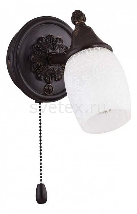 Бра MaytoniТочечные светильники<br>Артикул - MY_ECO563-01-R,Бренд - Maytoni (Германия),Коллекция - Margaret,Гарантия, месяцы - 24,Ширина, мм - 107,Высота, мм - 153,Выступ, мм - 145,Размер упаковки, мм - 170x120x150,Тип лампы - компактная люминесцентная [КЛЛ] ИЛИнакаливания ИЛИсветодиодная [LED],Общее кол-во ламп - 1,Напряжение питания лампы, В - 220,Максимальная мощность лампы, Вт - 40,Лампы в комплекте - отсутствуют,Цвет плафонов и подвесок - белый с рисунком,Тип поверхности плафонов - матовый,Материал плафонов и подвесок - стекло,Цвет арматуры - бронза темная,Тип поверхности арматуры - матовый,Материал арматуры - металл,Количество плафонов - 1,Наличие выключателя, диммера или пульта ДУ - выключатель шнуровой,Возможность подлючения диммера - можно, если установить лампу накаливания,Тип цоколя лампы - E14,Класс электробезопасности - I,Степень пылевлагозащиты, IP - 20,Диапазон рабочих температур - комнатная температура,Дополнительные параметры - способ крепления светильника к стене - на монтажной пластине, светильник предназначен для использования со скрытой проводкой, поворотный светильник<br>