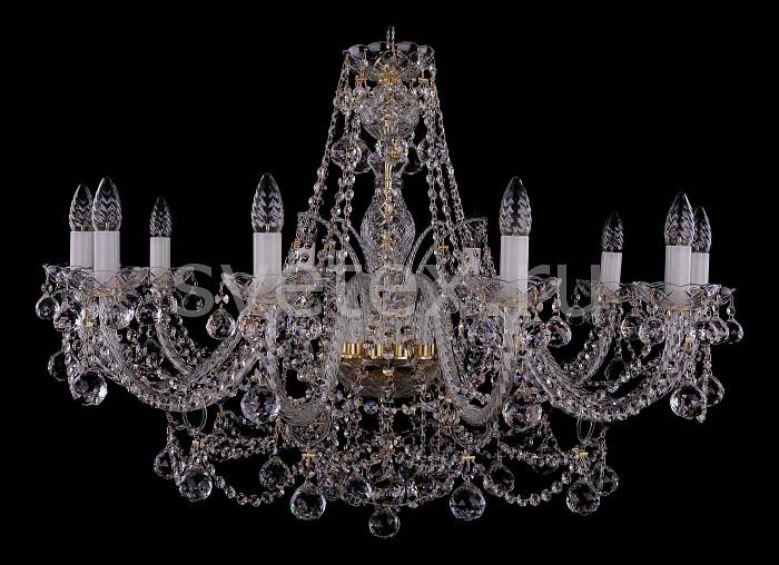 Фото Подвесная люстра Bohemia Ivele Crystal 1411 1411/10/360-66/G/Balls