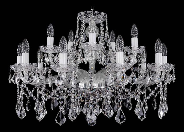 Фото Подвесная люстра Bohemia Ivele Crystal 1413 1413/10_5/300/Ni/Leafs