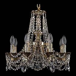 Подвесная люстра Bohemia Ivele CrystalБолее 6 ламп<br>Артикул - BI_1771_8_150_C_GB,Бренд - Bohemia Ivele Crystal (Чехия),Коллекция - 1771,Гарантия, месяцы - 24,Высота, мм - 420,Диаметр, мм - 500,Размер упаковки, мм - 450x450x200,Тип лампы - компактная люминесцентная [КЛЛ] ИЛИнакаливания ИЛИсветодиодная [LED],Общее кол-во ламп - 8,Напряжение питания лампы, В - 220,Максимальная мощность лампы, Вт - 40,Лампы в комплекте - отсутствуют,Цвет плафонов и подвесок - неокрашенный,Тип поверхности плафонов - прозрачный,Материал плафонов и подвесок - хрусталь,Цвет арматуры - золото черненое,Тип поверхности арматуры - глянцевый, рельефный,Материал арматуры - латунь,Возможность подлючения диммера - можно, если установить лампу накаливания,Форма и тип колбы - свеча ИЛИ свеча на ветру,Тип цоколя лампы - E14,Класс электробезопасности - I,Общая мощность, Вт - 320,Степень пылевлагозащиты, IP - 20,Диапазон рабочих температур - комнатная температура,Дополнительные параметры - способ крепления светильника к потолку - на крюке, указана высота светильника без подвеса<br>