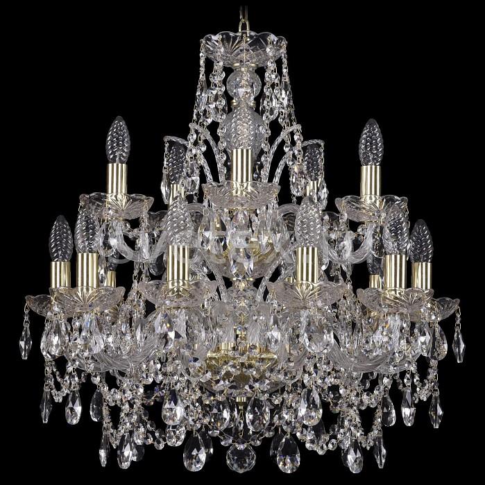 Подвесная люстра Bohemia Ivele CrystalБолее 6 ламп<br>Артикул - BI_1411_10_5_195_2d_G,Бренд - Bohemia Ivele Crystal (Чехия),Коллекция - 1411,Гарантия, месяцы - 24,Высота, мм - 600,Диаметр, мм - 600,Размер упаковки, мм - 510x510x200,Тип лампы - компактная люминесцентная [КЛЛ] ИЛИнакаливания ИЛИсветодиодная [LED],Количество ламп - 7,Общее кол-во ламп - 15,Напряжение питания лампы, В - 220,Максимальная мощность лампы, Вт - 40,Лампы в комплекте - отсутствуют,Цвет плафонов и подвесок - неокрашенный,Тип поверхности плафонов - прозрачный,Материал плафонов и подвесок - хрусталь,Цвет арматуры - золото, неокрашенный,Тип поверхности арматуры - глянцевый, прозрачный,Материал арматуры - металл, стекло,Возможность подлючения диммера - можно, если установить лампу накаливания,Форма и тип колбы - свеча ИЛИ свеча на ветру,Тип цоколя лампы - E14,Класс электробезопасности - I,Общая мощность, Вт - 340,Степень пылевлагозащиты, IP - 20,Диапазон рабочих температур - комнатная температура,Дополнительные параметры - способ крепления светильника к потолку - на крюке, указана высота светильники без подвеса<br>