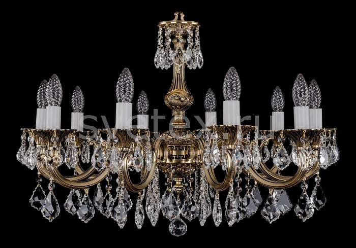 Фото Подвесная люстра Bohemia Ivele Crystal 1702 1702/10/A/GB/Leafs