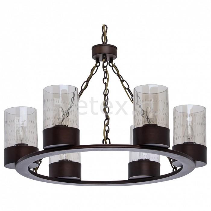 Подвесная люстра MW-LightЛюстры<br>Артикул - MW_249017406,Бренд - MW-Light (Германия),Коллекция - Замок,Гарантия, месяцы - 24,Высота, мм - 560-800,Диаметр, мм - 630,Тип лампы - компактная люминесцентная [КЛЛ] ИЛИнакаливания ИЛИсветодиодная [LED],Общее кол-во ламп - 6,Напряжение питания лампы, В - 220,Максимальная мощность лампы, Вт - 60,Лампы в комплекте - отсутствуют,Цвет плафонов и подвесок - шампань,Тип поверхности плафонов - прозрачный, рельефный,Материал плафонов и подвесок - стекло,Цвет арматуры - коричневый,Тип поверхности арматуры - матовый,Материал арматуры - металл,Количество плафонов - 6,Возможность подлючения диммера - можно, если установить лампу накаливания,Тип цоколя лампы - E27,Класс электробезопасности - I,Общая мощность, Вт - 360,Степень пылевлагозащиты, IP - 20,Диапазон рабочих температур - комнатная температура,Дополнительные параметры - регулируется по высоте,  способ крепления светильника к потолку – на крюке<br>