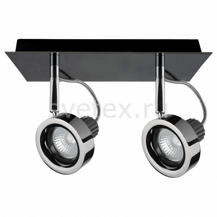 Спот LightstarСпоты<br>Артикул - LS_210128,Бренд - Lightstar (Италия),Коллекция - Varieta,Гарантия, месяцы - 24,Длина, мм - 250,Ширина, мм - 100,Выступ, мм - 170,Тип лампы - галогеновая ИЛИсветодиодная [LED],Общее кол-во ламп - 2,Напряжение питания лампы, В - 12,Максимальная мощность лампы, Вт - 50,Лампы в комплекте - отсутствуют,Цвет плафонов и подвесок - никель черный,Тип поверхности плафонов - глянцевый,Материал плафонов и подвесок - металл,Цвет арматуры - никель черный, хром,Тип поверхности арматуры - глянцевый,Материал арматуры - металл,Количество плафонов - 2,Компоненты, входящие в комплект - трансформатор 12В,Форма и тип колбы - полусферическая с рефлектором,Тип цоколя лампы - GU10,Класс электробезопасности - I,Напряжение питания, В - 220,Общая мощность, Вт - 100,Степень пылевлагозащиты, IP - 20,Диапазон рабочих температур - комнатная температура,Дополнительные параметры - поворотный светильник<br>