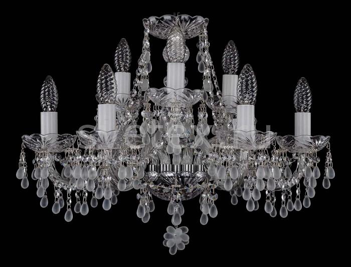 Фото Подвесная люстра Bohemia Ivele Crystal 1410 1410/6_3/195/Ni/0300