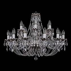 Подвесная люстра Bohemia Ivele CrystalБолее 6 ламп<br>Артикул - BI_1606_12_6_300_NB,Бренд - Bohemia Ivele Crystal (Чехия),Коллекция - 1606,Гарантия, месяцы - 12,Высота, мм - 580,Диаметр, мм - 820,Размер упаковки, мм - 640x640x320,Тип лампы - компактная люминесцентная [КЛЛ] ИЛИнакаливания ИЛИсветодиодная [LED],Общее кол-во ламп - 18,Напряжение питания лампы, В - 220,Максимальная мощность лампы, Вт - 40,Лампы в комплекте - отсутствуют,Цвет плафонов и подвесок - неокрашенный,Тип поверхности плафонов - прозрачный,Материал плафонов и подвесок - хрусталь,Цвет арматуры - неокрашенный, никель черненый,Тип поверхности арматуры - глянцевый, прозрачный,Материал арматуры - металл, стекло,Возможность подлючения диммера - можно, если установить лампу накаливания,Форма и тип колбы - свеча ИЛИ свеча на ветру,Тип цоколя лампы - E14,Класс электробезопасности - I,Общая мощность, Вт - 720,Степень пылевлагозащиты, IP - 20,Диапазон рабочих температур - комнатная температура,Дополнительные параметры - способ крепления светильника к потолку – на крюке<br>