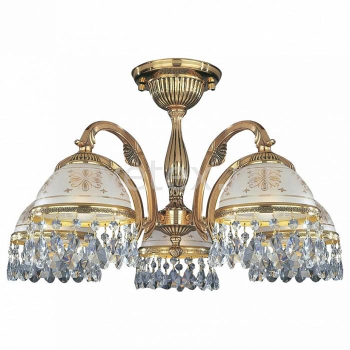 Люстра на штанге Reccagni AngeloЛюстры<br>Артикул - RA_PL_6120_5,Бренд - Reccagni Angelo (Италия),Коллекция - 6120,Гарантия, месяцы - 24,Высота, мм - 410,Диаметр, мм - 620,Тип лампы - компактная люминесцентная [КЛЛ] ИЛИнакаливания ИЛИсветодиодная [LED],Общее кол-во ламп - 5,Напряжение питания лампы, В - 220,Максимальная мощность лампы, Вт - 60,Лампы в комплекте - отсутствуют,Цвет плафонов и подвесок - белый с рисунком и каймой, неокрашенный,Тип поверхности плафонов - матовый, прозрачный,Материал плафонов и подвесок - стекло, хрусталь,Цвет арматуры - золото французское,Тип поверхности арматуры - глянцевый, рельефный,Материал арматуры - латунь,Количество плафонов - 5,Возможность подлючения диммера - можно, если установить лампу накаливания,Тип цоколя лампы - E27,Класс электробезопасности - I,Общая мощность, Вт - 300,Степень пылевлагозащиты, IP - 20,Диапазон рабочих температур - комнатная температура,Дополнительные параметры - способ крепления светильника к потолку - на монтажной пластине<br>