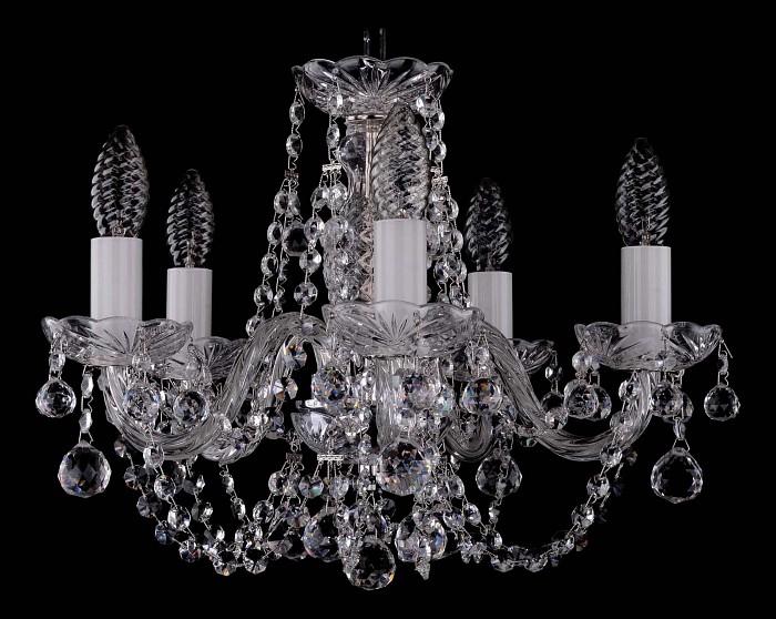 Фото Подвесная люстра Bohemia Ivele Crystal 1406 1406/5/141/Ni/Balls
