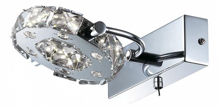 Бра Odeon LightХРУСТАЛЬНЫЕ светильники<br>Артикул - OD_2710_6W,Бренд - Odeon Light (Италия),Коллекция - Mairi,Гарантия, месяцы - 24,Время изготовления, дней - 1,Ширина, мм - 180,Высота, мм - 100,Выступ, мм - 230,Тип лампы - светодиодная [LED],Общее кол-во ламп - 1,Напряжение питания лампы, В - 220,Максимальная мощность лампы, Вт - 6,Цвет лампы - белый,Лампы в комплекте - светодиодная [LED],Цвет плафонов и подвесок - неокрашенный,Тип поверхности плафонов - прозрачный,Материал плафонов и подвесок - хрусталь,Цвет арматуры - хром,Тип поверхности арматуры - глянцевый,Материал арматуры - металл,Количество плафонов - 1,Наличие выключателя, диммера или пульта ДУ - выключатель,Цветовая температура, K - 4000 K,Экономичнее лампы накаливания - в 15 раз,Класс электробезопасности - I,Степень пылевлагозащиты, IP - 20,Диапазон рабочих температур - комнатная температура,Дополнительные параметры - поворотный светильник, предназначен для использования со скрытой проводкой<br>