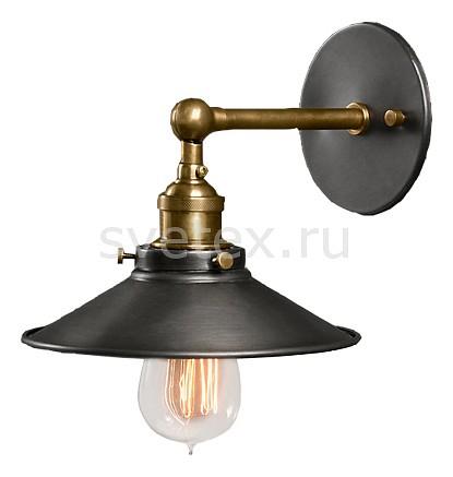 Бра Restoration HardwareСветодиодные<br>Артикул - RMR_DTL9103,Бренд - Restoration Hardware (США),Коллекция - Скон,Гарантия, месяцы - 12,Ширина, мм - 190,Высота, мм - 165,Выступ, мм - 210,Тип лампы - компактная люминесцентная [КЛЛ] ИЛИнакаливания ИЛИсветодиодная [LED],Общее кол-во ламп - 1,Напряжение питания лампы, В - 220,Максимальная мощность лампы, Вт - 60,Лампы в комплекте - отсутствуют,Цвет плафонов и подвесок - черный,Тип поверхности плафонов - матовый,Материал плафонов и подвесок - металл,Цвет арматуры - латунь, черный,Тип поверхности арматуры - матовый,Материал арматуры - металл,Количество плафонов - 1,Возможность подлючения диммера - можно, если установить лампу накаливания,Тип цоколя лампы - E27,Класс электробезопасности - I,Степень пылевлагозащиты, IP - 20,Диапазон рабочих температур - комнатная температура,Дополнительные параметры - способ крепления светильника к стене - на монтажной пластине, светильник предназначен для  использования со скрытой проводкой, поворотный светильник<br>