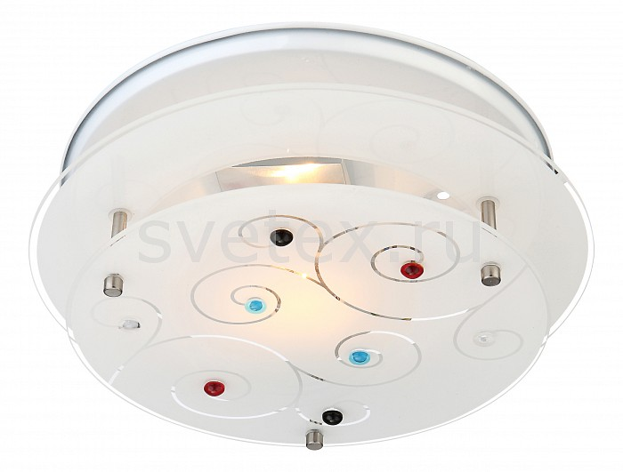 Накладной светильник GloboКруглые<br>Артикул - GB_48141-1,Бренд - Globo (Австрия),Коллекция - Regius,Гарантия, месяцы - 24,Выступ, мм - 80,Диаметр, мм - 250,Размер упаковки, мм - 255x85x255,Тип лампы - компактная люминесцентная [КЛЛ] ИЛИнакаливания ИЛИсветодиодная [LED],Общее кол-во ламп - 1,Напряжение питания лампы, В - 220,Максимальная мощность лампы, Вт - 40,Лампы в комплекте - отсутствуют,Цвет плафонов и подвесок - белый с рисунком,Тип поверхности плафонов - матовый,Материал плафонов и подвесок - стекло,Цвет арматуры - белый,Тип поверхности арматуры - матовый,Материал арматуры - металл,Количество плафонов - 1,Возможность подлючения диммера - можно, если установить лампу накаливания,Тип цоколя лампы - E27,Класс электробезопасности - I,Степень пылевлагозащиты, IP - 20,Диапазон рабочих температур - комнатная температура,Дополнительные параметры - способ крепления светильника к стене и потолку - на монтажной пластине<br>