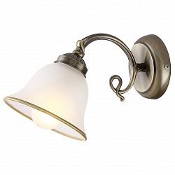 Бра GloboС 1 лампой<br>Артикул - GB_60208W,Бренд - Globo (Австрия),Коллекция - Odin,Гарантия, месяцы - 24,Высота, мм - 180,Тип лампы - компактная люминесцентная [КЛЛ] ИЛИнакаливания ИЛИсветодиодная [LED],Общее кол-во ламп - 1,Напряжение питания лампы, В - 220,Максимальная мощность лампы, Вт - 60,Лампы в комплекте - отсутствуют,Цвет плафонов и подвесок - белый с каймой,Тип поверхности плафонов - матовый,Материал плафонов и подвесок - стекло,Цвет арматуры - бронза античная,Тип поверхности арматуры - глянцевый,Материал арматуры - металл,Возможность подлючения диммера - можно, если установить лампу накаливания,Тип цоколя лампы - E27,Класс электробезопасности - I,Степень пылевлагозащиты, IP - 20,Диапазон рабочих температур - комнатная температура,Дополнительные параметры - способ крепления светильника к стене – на монтажной пластине, светильник предназначен для использования со скрытой проводкой<br>