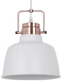 Подвесной светильник Odeon LightДля кухни<br>Артикул - OD_3324_1,Бренд - Odeon Light (Италия),Коллекция - Sert,Гарантия, месяцы - 24,Высота, мм - 250-1305,Диаметр, мм - 220,Тип лампы - компактная люминесцентная [КЛЛ] ИЛИнакаливания ИЛИсветодиодная [LED],Общее кол-во ламп - 1,Напряжение питания лампы, В - 220,Максимальная мощность лампы, Вт - 60,Лампы в комплекте - отсутствуют,Цвет плафонов и подвесок - белый,Тип поверхности плафонов - матовый,Материал плафонов и подвесок - металл,Цвет арматуры - медь,Тип поверхности арматуры - глянцевый,Материал арматуры - металл,Количество плафонов - 1,Возможность подлючения диммера - можно, если установить лампу накаливания,Тип цоколя лампы - E27,Класс электробезопасности - I,Степень пылевлагозащиты, IP - 20,Диапазон рабочих температур - комнатная температура,Дополнительные параметры - способ крепления светильника к потолку - на монтажной пластине, светильник регулируется по высоте, поворотный светильник<br>