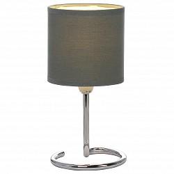 Настольная лампа GloboС абажуром<br>Артикул - GB_24639DG,Бренд - Globo (Австрия),Коллекция - Elfi,Гарантия, месяцы - 24,Высота, мм - 250,Диаметр, мм - 120,Размер упаковки, мм - 125х125х180,Тип лампы - компактная люминесцентная [КЛЛ] ИЛИнакаливания ИЛИсветодиодная [LED],Общее кол-во ламп - 1,Напряжение питания лампы, В - 220,Максимальная мощность лампы, Вт - 40,Лампы в комплекте - отсутствуют,Цвет плафонов и подвесок - темно-серый,Тип поверхности плафонов - матовый,Материал плафонов и подвесок - текстиль,Цвет арматуры - хром,Тип поверхности арматуры - глянцевый, металлик,Материал арматуры - металл,Тип цоколя лампы - E14,Класс электробезопасности - II,Степень пылевлагозащиты, IP - 20,Диапазон рабочих температур - комнатная температура<br>