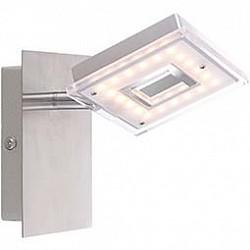 Спот GloboС 1 лампой<br>Артикул - GB_56138-1,Бренд - Globo (Австрия),Коллекция - Kerstin,Гарантия, месяцы - 24,Размер упаковки, мм - 100x80x145,Тип лампы - светодиодная [LED],Общее кол-во ламп - 1,Напряжение питания лампы, В - 130,Максимальная мощность лампы, Вт - 4, 2,Лампы в комплекте - светодиодная [LED],Цвет плафонов и подвесок - белый с неокрашенной каймой,Тип поверхности плафонов - матовый,Материал плафонов и подвесок - акрил,Цвет арматуры - никель, хром,Тип поверхности арматуры - глянцевый, матовый,Материал арматуры - металл,Возможность подлючения диммера - нельзя,Класс электробезопасности - I,Степень пылевлагозащиты, IP - 20,Диапазон рабочих температур - комнатная температура,Дополнительные параметры - способ крепления светильника к стене и потолку - на монтажной пластине, поворотный светильник<br>