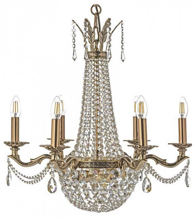 Подвесная люстра Arti LampadariБолее 6 ламп<br>Артикул - AL_Amelia_E_1.6.6.502_GB,Бренд - Arti Lampadari (Италия),Коллекция - Amelia,Гарантия, месяцы - 24,Высота, мм - 700,Диаметр, мм - 640,Тип лампы - компактные люминесцентные [КЛЛ] ИЛИнакаливания ИЛИсветодиодные [LED],Количество ламп - 6, 3,Общее кол-во ламп - 9,Напряжение питания лампы, В - 220,Максимальная мощность лампы, Вт - 60, 40,Лампы в комплекте - отсутствуют,Цвет плафонов и подвесок - неокрашенный,Тип поверхности плафонов - прозрачный,Материал плафонов и подвесок - хрусталь,Цвет арматуры - золото с чернением,Тип поверхности арматуры - глянцевый,Материал арматуры - металл,Возможность подлючения диммера - можно, если установить лампу накаливания,Форма и тип колбы - свеча ИЛИ свеча на ветру,Тип цоколя лампы - E14, E27,Класс электробезопасности - I,Общая мощность, Вт - 480,Степень пылевлагозащиты, IP - 20,Диапазон рабочих температур - комнатная температура,Дополнительные параметры - способ крепления светильника к потолку - на крюке, указана высота светильника без подвеса<br>