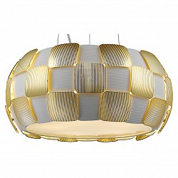 Подвесной светильник DivinareСветодиодные<br>Артикул - DV_1317_13_SP-5,Бренд - Divinare (Италия),Коллекция - Beata,Гарантия, месяцы - 24,Высота, мм - 200-1240,Диаметр, мм - 460,Тип лампы - компактная люминесцентная [КЛЛ] ИЛИсветодиодная [LED],Общее кол-во ламп - 5,Напряжение питания лампы, В - 220,Максимальная мощность лампы, Вт - 24,Лампы в комплекте - отсутствуют,Цвет плафонов и подвесок - белый,Тип поверхности плафонов - матовый,Материал плафонов и подвесок - поликарбонат,Цвет арматуры - золото,Тип поверхности арматуры - глянцевый,Материал арматуры - металл,Возможность подлючения диммера - можно, если установить лампу накаливания,Тип цоколя лампы - E27,Класс электробезопасности - I,Общая мощность, Вт - 120,Степень пылевлагозащиты, IP - 20,Диапазон рабочих температур - комнатная температура,Дополнительные параметры - способ крепления светильника к потолку - на монтажной пластине, регулируется по высоте<br>