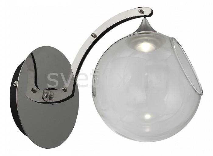 Бра ST-LuceНастенные светильники<br>Артикул - SL551.101.01,Бренд - ST-Luce (Китай),Коллекция - Creozione,Гарантия, месяцы - 24,Ширина, мм - 150,Высота, мм - 200,Выступ, мм - 250,Размер упаковки, мм - 370x230x240,Тип лампы - светодиодная [LED],Общее кол-во ламп - 1,Максимальная мощность лампы, Вт - 3,Цвет лампы - белый,Лампы в комплекте - светодиодная [LED],Цвет плафонов и подвесок - неокрашенный,Тип поверхности плафонов - прозрачный,Материал плафонов и подвесок - стекло,Цвет арматуры - хром,Тип поверхности арматуры - глянцевый,Материал арматуры - металл,Количество плафонов - 1,Возможность подлючения диммера - нельзя,Цветовая температура, K - 4000 K,Экономичнее лампы накаливания - в 10 раз,Класс электробезопасности - I,Напряжение питания, В - 220,Степень пылевлагозащиты, IP - 20,Диапазон рабочих температур - комнатная температура,Дополнительные параметры - способ крепления светильника к стене - на монтажной пластине, светильник предназначен для использования со скрытой проводкой, светильник продается без наполнителя<br>